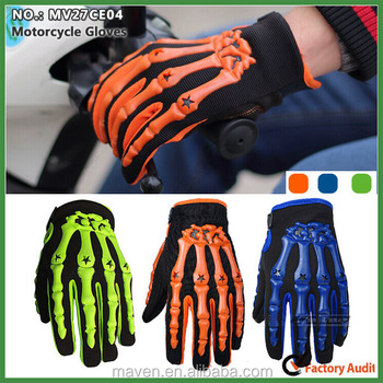 Ghost Claw Design Full-finger Sports Racing Glove For Motorcycle Rider MV27CE004