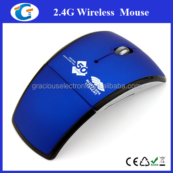 NEW Folding 2.4G USB Optical Wireless Mouse For Laptop PC Macbook Black