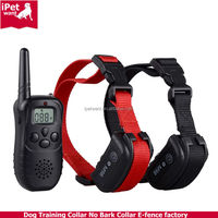 ipetwant M98-2 Waterproof Dog Training Shock Collar with remote and bird tweet for 2dogs