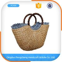 Factory supply different color paper straw fashion beach straw bags handbags