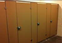 compact laminate toilet cubicles