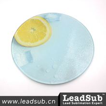 kitchen Ware Blank Sublimation Glass Cutting Board (Round)