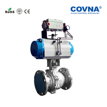 COVNA Pneumatic Socket Welded Flange 1/2 Inch Double flanged ball valve