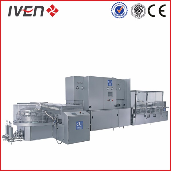 vial ampoule washing Sterilizing filling sealing production machinery