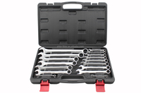 LB-450 14pcs ratchet wrench set hand tool set tool kit in aluminium trolley