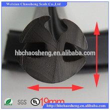 H channel auto glass rubber seal