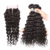 Brazilian human hair weave closure piece with part,virgin hair deep wave bundles with lace closure,cheap hair piece closure lace