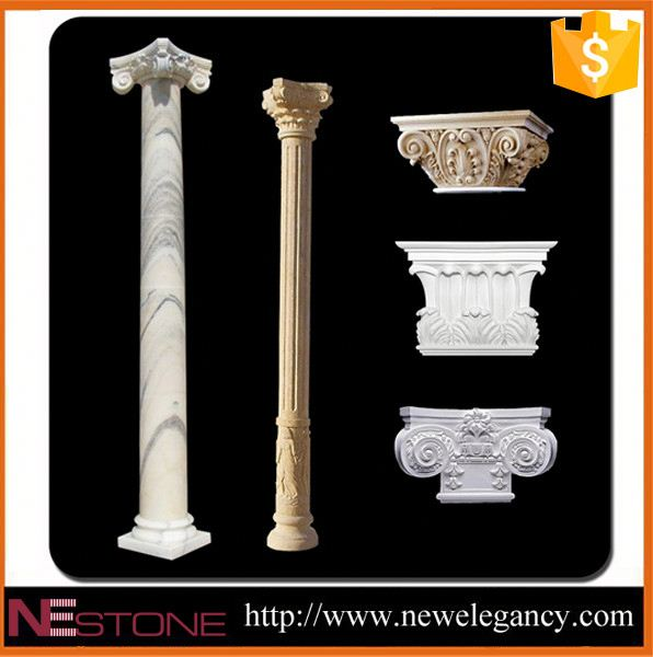 Natural stone pillar columns floor design roman wedding pillars floor design roman wedding pillars