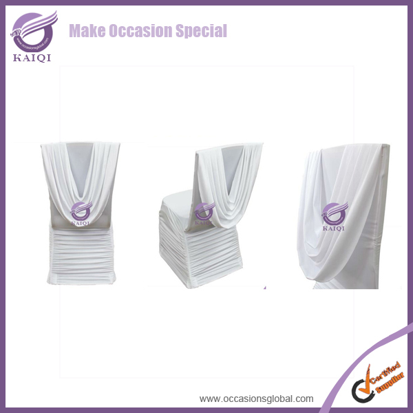 YT09873 factory promotion banquet polyester universal factory Manufacturers ruffled chair cover