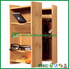 2 compartment natural style bamboo wooden household wall mounted storage rack with keys holder