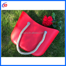 High quality hot sale newest designer fashion bags beach lady handbag made in silicone/eva , from China