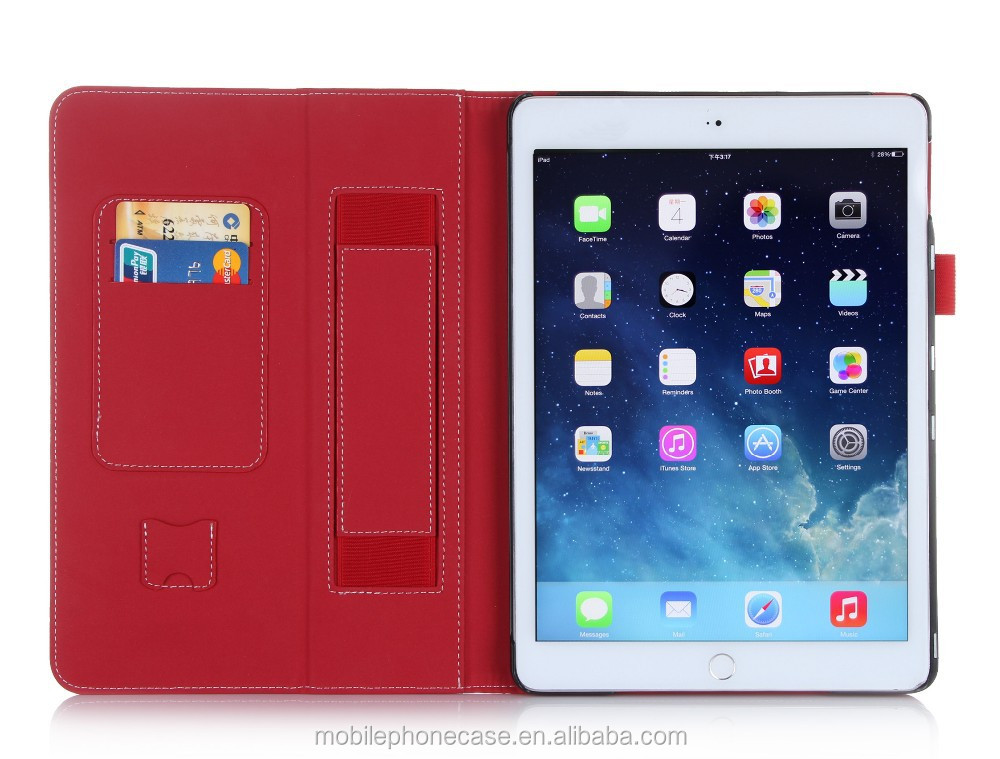 2015 detachable Rotating tablet case leather case for Ipad Air 2