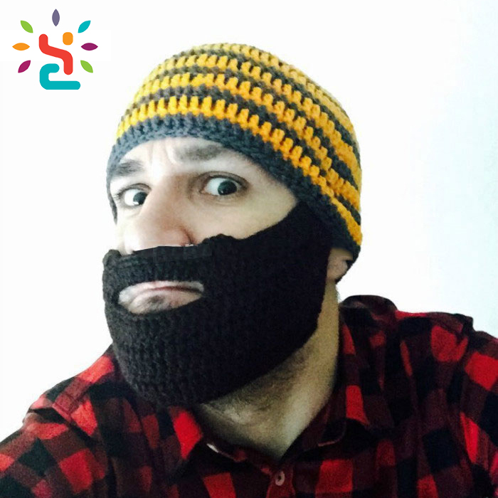 New Style Era Knight Helmet Winter Face Mask Beanie Hats/crochet Knit Face Mask Beanie Hat/mustache Beanie Hat