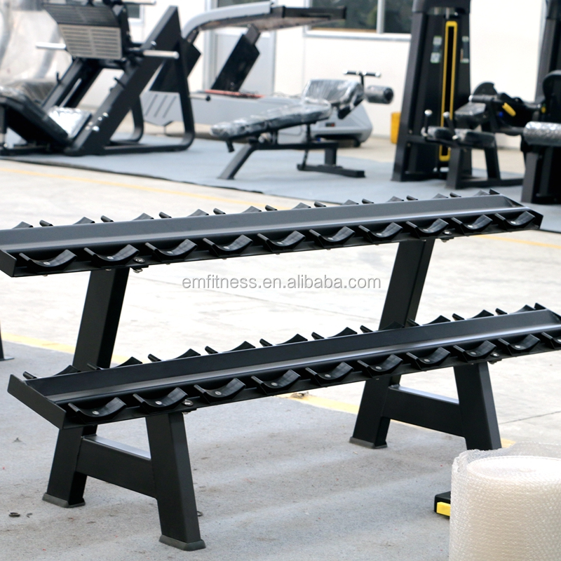 commercial use indoor gym equipment dumbell rack