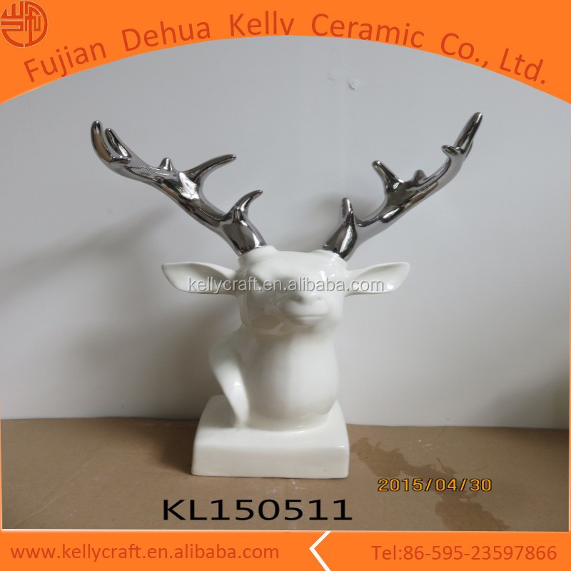 Ceramic xmas decorations wholesale ceramic design ideas with deer head