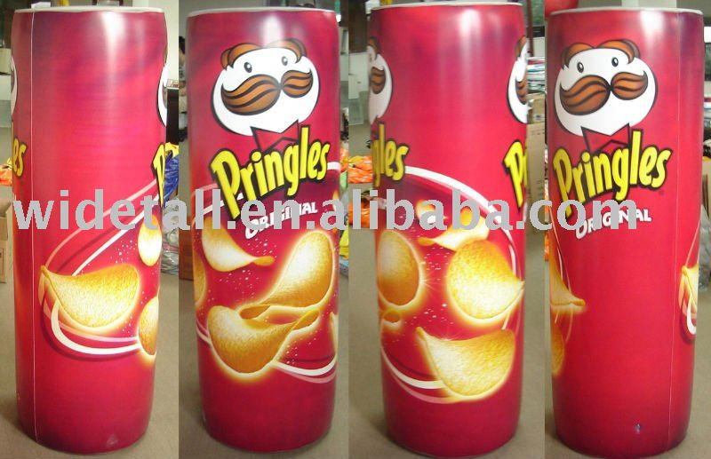 inflatable advertising/inflatable Pringle Potato Chips/pvc bottle
