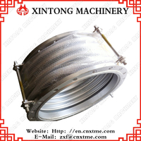 Flexible telescopic expansion joint and stainless steel bellows compensator