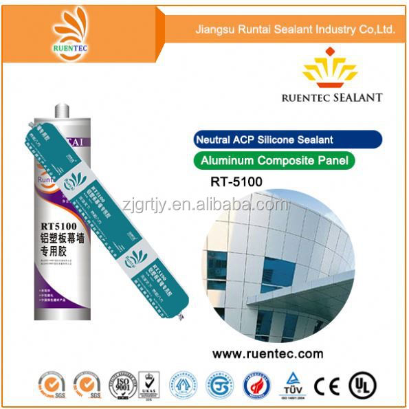 Acetic Glazing Sealing Gum/Acetic Silicone Building Sealant/Rtv General Use Acetic Silicone Sealant