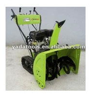 CE approved track walk gas 13HP locin snow thrower