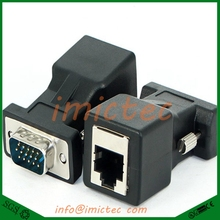 Hot Selling! New VGA Extender Male To Lan Cat5 Cat5e RJ45 Ethernet Female Adapter Wholesale Price Mar24