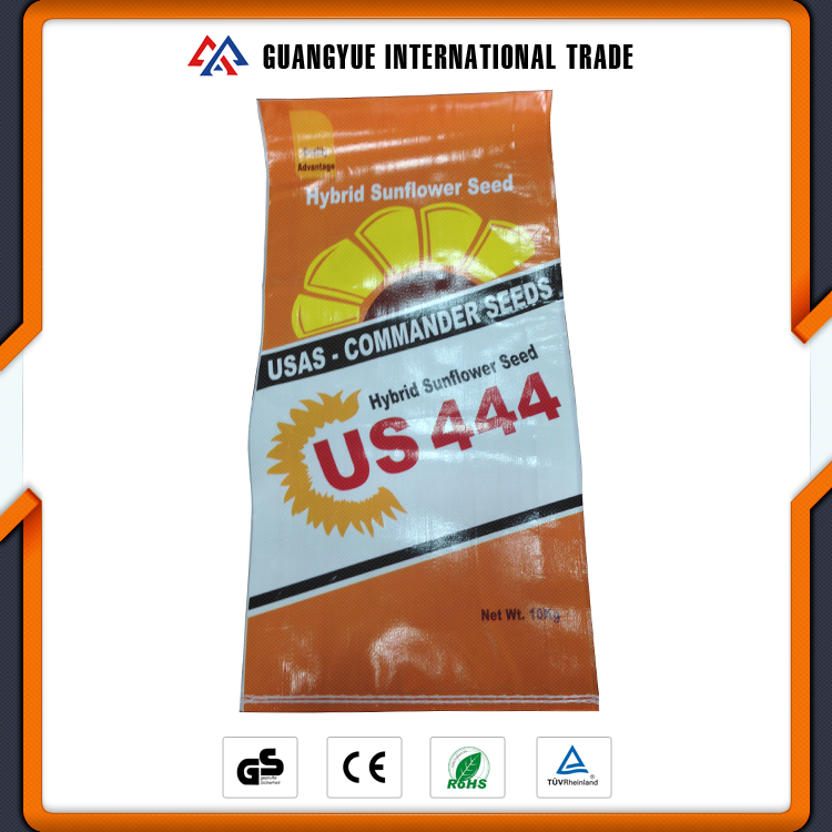 Guangyue China Promotion 10KG Package Hybrid Sunflower PP Woven Seed Bag