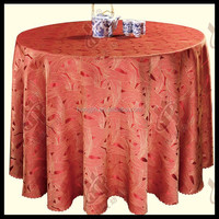 Wedding table cloth /100%polyester jacquard table cloth for hotel