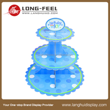 cupcake counter display China supplier new product cardboard POS display stand