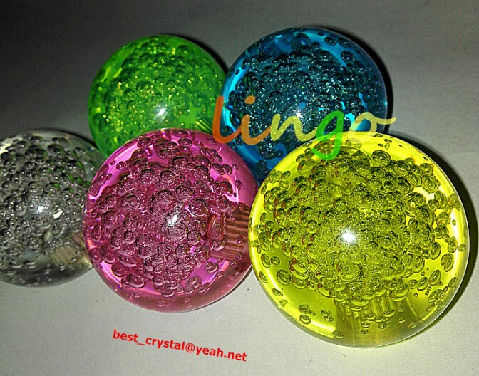Decorative K9 Quality 100mm Glass Bubble Ball