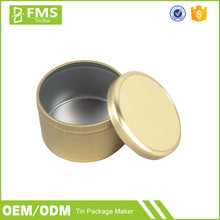 Custom Made Small Round Shoe Polish Packaging Tin Box, Solid Perfume Metal Box, Candle Tin Can