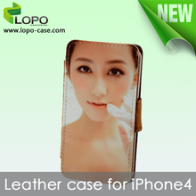 Simply style for iphone 4/4S sublimation leather case