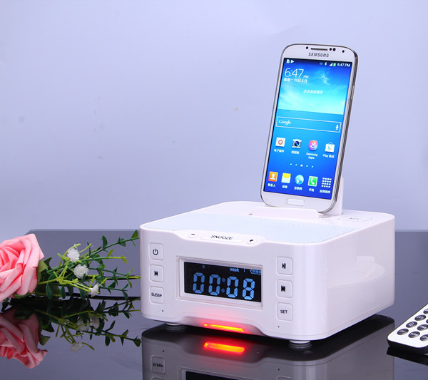 2015 New Rechargeable NFC Radio Bluetooth Speaker Charging Docking Station For Smart Phone