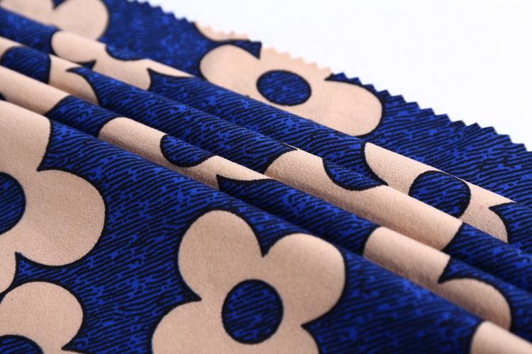 Bas prix 96 polyester 4 spandex jersey simple DTY fleur imprimer pul tissu