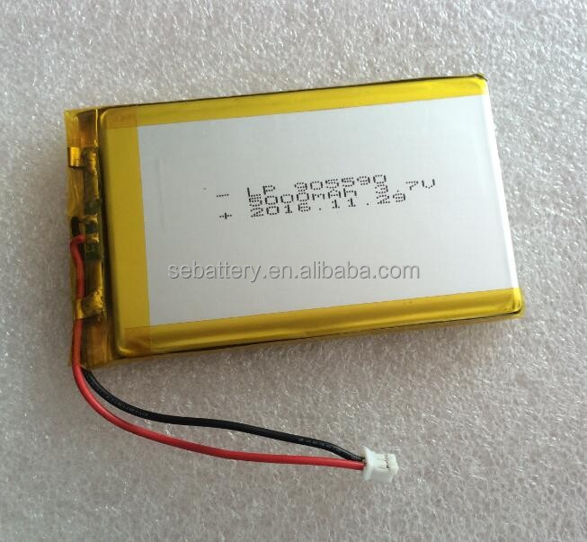 High capacity Li-polymer Battery LP905590 5000mAh 3.7V Lipo power bank Battery