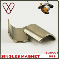 China Factory Ndfeb Neodymium Magnet Manufacture Arc Shape Motor Magent For Driven Generator