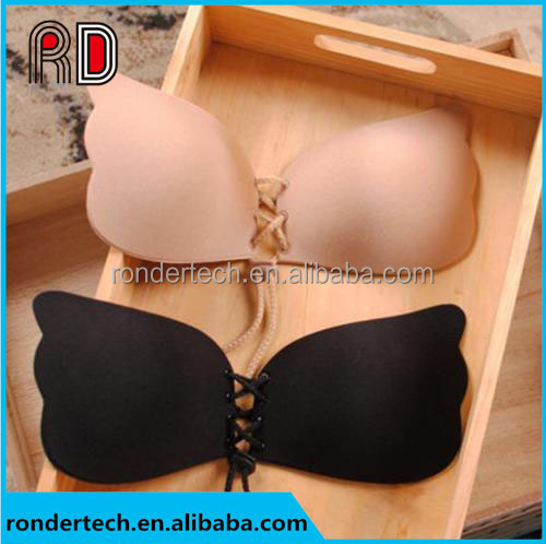 Sexy Women Push Up Bra Front Closure Self-Adhesive Silicone Gel Invisible Bra Seamless Strapless Backless Bra A B C D
