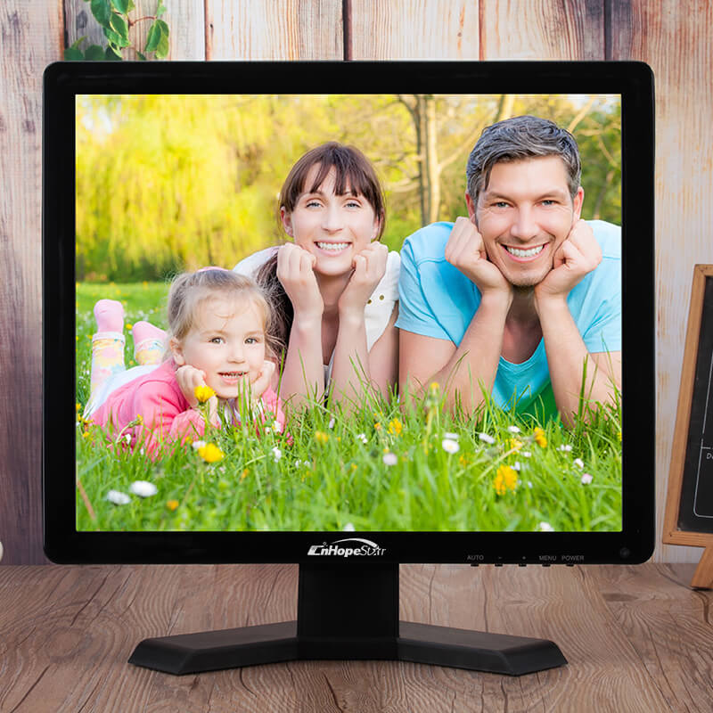Shenzhen square 15 inch lcd monitor with hdmi input vga price