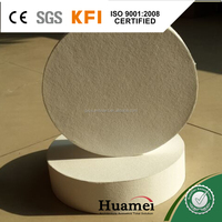 circle shape fiber glass wool for sound-absorption