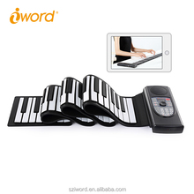 High quality portable piano keyboard 88 keys ,Portable Digital MIDI Roll-up Soft Electronic Piano Keyboard