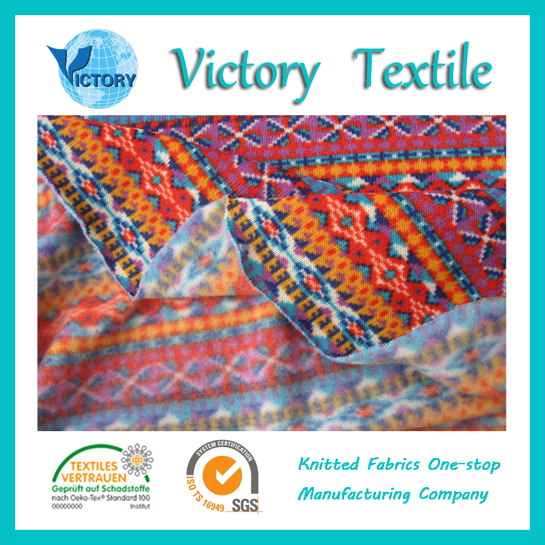 Very Cheap Printted Coarse knitted Fabric in 2015