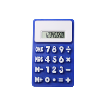 High Quality 8 Digits Pocket Silicone Rubber Folding Calculator