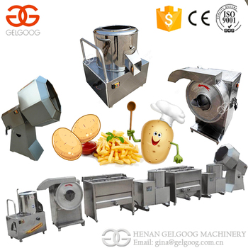India Hot Sale Best Price Small Scale Potato Chips Making Machine Frozen French Fries Machine