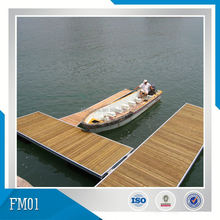 Floating dock with wood decking