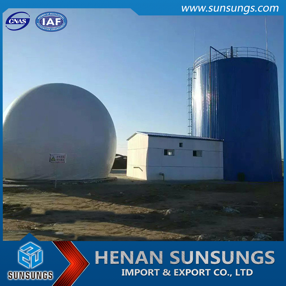 Double membrane methane gas tank & gas storage system