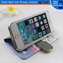 High Quality PU Leather Pastoral Pattern Case for Galaxy S3 i9300 Summer Series with Diamond