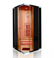 Solid Wood and Glass Infrared Sauna Cabin Luxury Sauna Room 01-K1