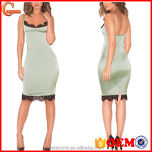 Low moq wholesale clothing women sexy satin dress spaghetti strap clothing lady dress manufacturer