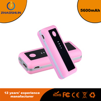 New design 5600mAh Portable Backup External Battery Power Bank Charger USB power bank for smart phone
