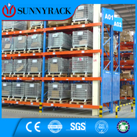 Most popular blue frame and orange beam structure steel pallet racking system