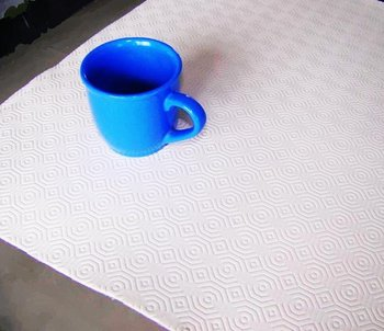 PVC foam surface + flannel back tablecloth PVC Imitation Leather