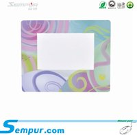 plastic pvc photo frame mouse pad mousepad for advertising